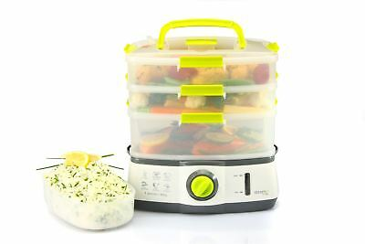 Sensio Home Steama 3 Tier Electric Food Steamer - Cooks Healthy Food Fast