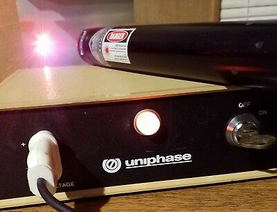 JDS Uniphase 1200 Series Laser Power Supply & Melles Griot 633nM Laser Tube