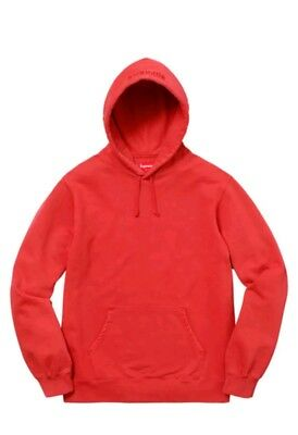 09191b5779d3 Supreme Overdyed Hooded Sweatshirt Red Large SS18 brand new never worn L
