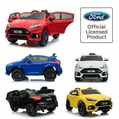 Ride On 12V Licensed Ford Focus Rs Kids Electric Battery 2.4G Remote Control Car