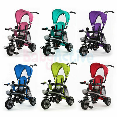 Tricycle Trike 4 In 1 Ride Kids Baby 3 Wheel Stroller Buggy Bar Push Bike
