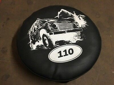 Land Rover Defender 110 Rear Spare Wheel Cover In Vinyl Printed FREE P&P