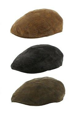 9a20aabd4d0 Genuine Eureka Stockade Karma Accessories Soft Leather 5 Panel Flat Cap