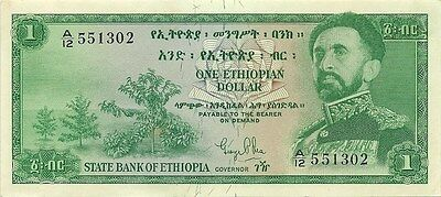 State Bank Of Ethiopia 1 Dollar 1961 - P-18 - Nice Choice Crisp Uncirculated