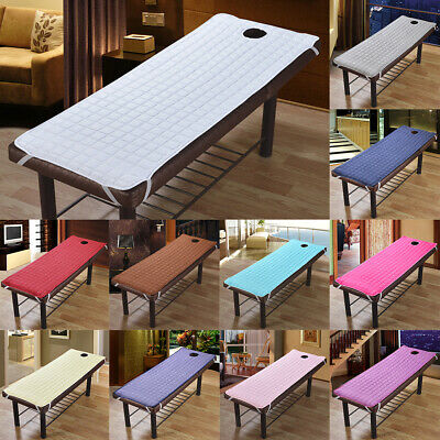 Massage Table Cover with Face Hole SPA Beauty Salon Sheet Bed Mattress Pad