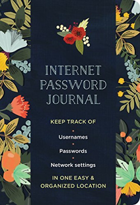 Harte Merideth (Con)/ Krova...-Modern Floral Internet Password Logbook BOOK NEW