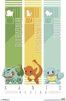 POKEMON - KANTO REGION POSTER - 22x34 - 17183