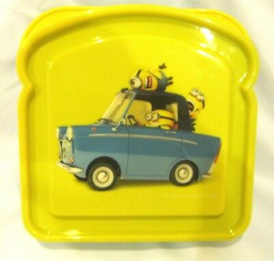 Disney Despicable Me Minions 1pc mealtime sandwich container-Brand New!