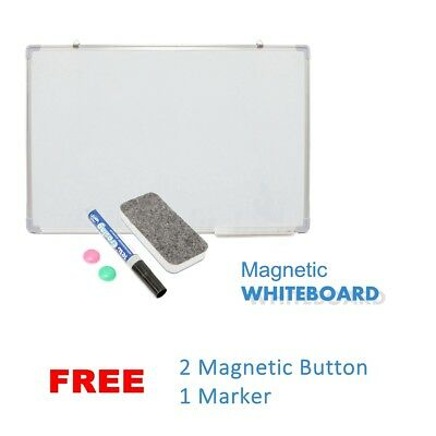 Magnetic Board Portable White board Commercial Quality 90 x 60cm Home Office AU