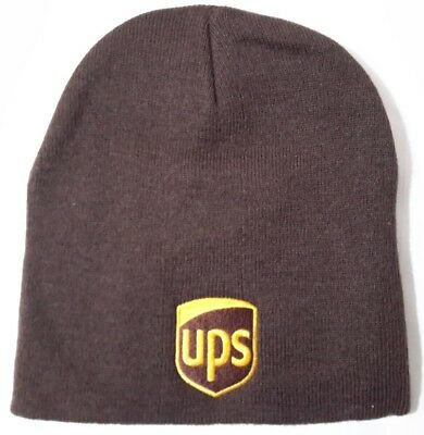 UNITED PARCEL SERVICE UPS Brown Knit Beanie Winter Skull Cap Uncuffed