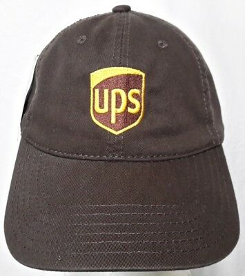 d5c7a87ff UNITED PARCEL SERVICE Ups Brown Baseball Cap Logo Stitched Embroidered  Strapback