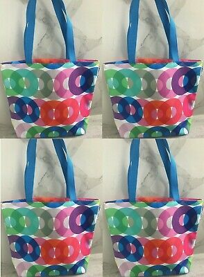 97f8885c3c KAPITZA for CLINIQUE multi-color tote shopper travel beach bag x lot set of  2