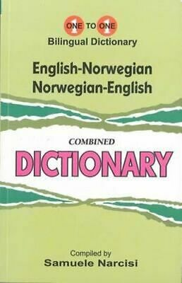 NEW English-Norwegian & Norwegian-English One-to-One Dictionary By S Narcisi