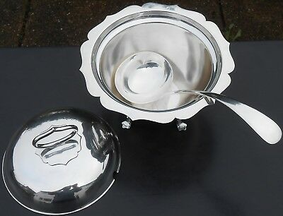 Mappin & Webb Soup Tureen + Ladle - Silver Plated - Edwardian Antique