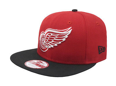 info for db926 9cca6 NEW ERA 9Fifty Detroit Red Wings Red Black Adjustable Snapback Cap Adult  Men Hat