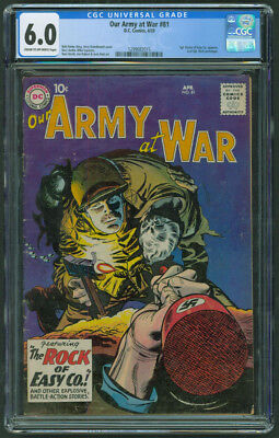 Our Army At War #81 CGC 6.0 C/OW Last Sgt Rock of Easy Company Prototype DC 1959