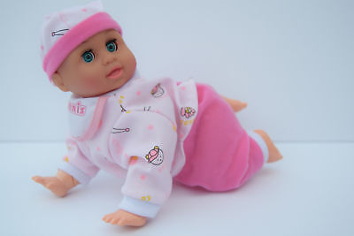 Crawling Baby Doll Interactive Dennis Pretend Play Baby Girl Sound Doll Pink