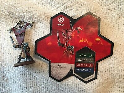 Heroscape Game System Ornak With Card Crest Of The Valkyrie