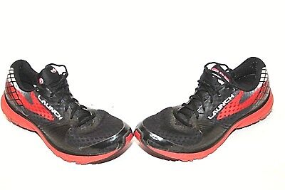 aaa551a7233 Brooks Launch 3 Running Shoes Black Red White Mens SZ 9 (1102151D073)