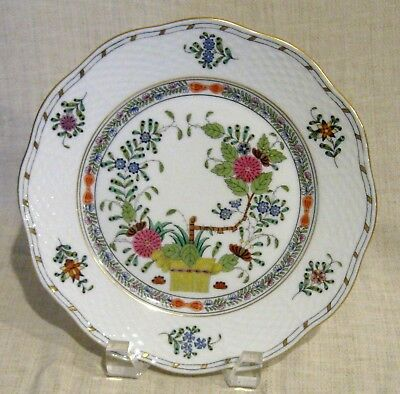 Herend Indian Basket Multicolor Salad Plate # 519