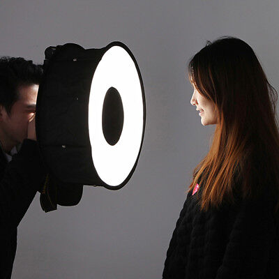 Ring Softbox Speedlight Round Shoot Soft Box Foldable Flash Light Diffuser E5P4