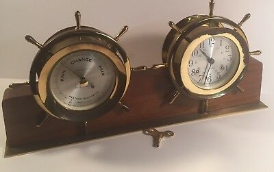 Seth Thomas Ships Clock And Barometer Helmsman