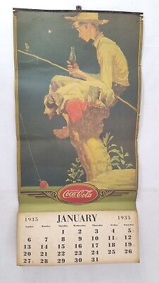 1935 Coca Cola Calendar - Vintage Reproduction - All Months Present Rockwell