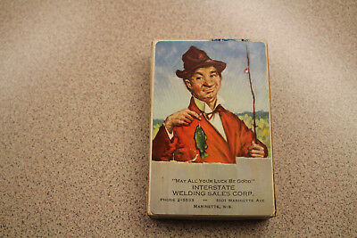 """Vintage Remembrance Playing Cards Marinette, Wis """"May All Your Luck Be Good"""""""