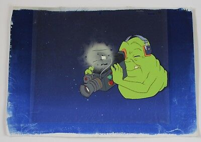 Rare The Real Ghostbusters Slimer Cartoon Producton Animation Art Layer Cel 80s