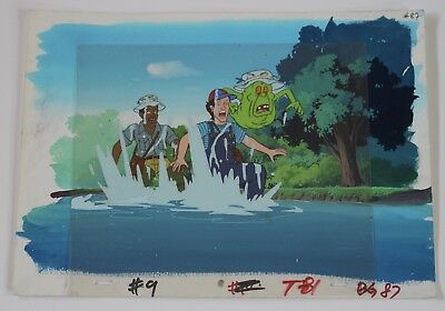 Vintage The Real Ghostbusters Slimer Cartoon Producton Animation Art Layered Cel
