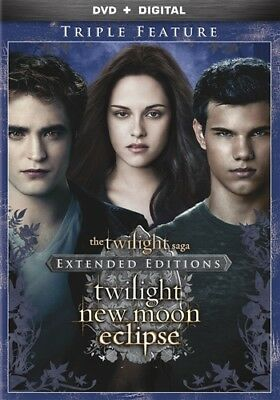 THE TWILIGHT SAGA EXTENDED EDITIONS TRIPLE FEATURE New 3 DVD New Moon Eclipse