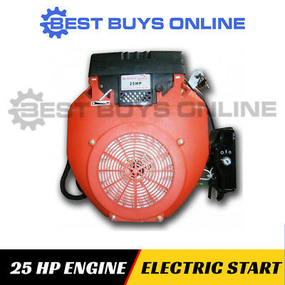 Petrol Engine 25 HP Electric Start Stationary Motor Horizontal Shaft 4 stroke