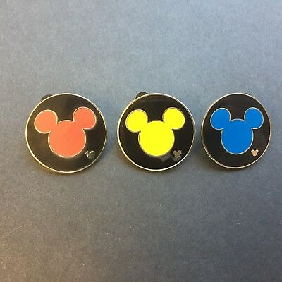 WDW Cast Lanyard Collection 4 - Mickey Icon 3 Pins Disney Pin 41188