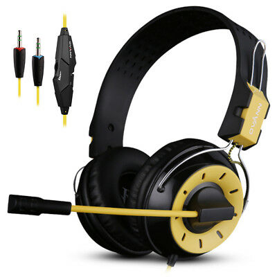 3.5mm Gaming Headset Mic Headphones Stereo Surround for PC PS4 Xbox ONE 360 P6B8