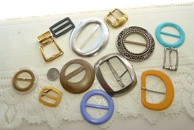 Jewellery Group Of 12 Mixed Vintage Buckles 14A