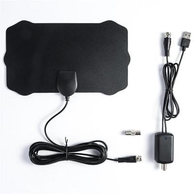 Indoor 1080P Digital HDTV TV Antenna with TV Aerial Amplifier 200 Miles Range UK