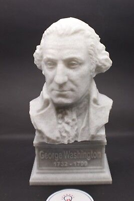 George Washington 7 inch Marble Bust DC President Sculpture Art FREE SHIPPING