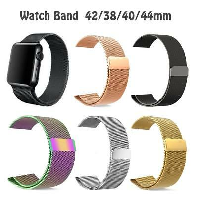 Milanese Stainless Steel Watch band Strap For Apple Watch iWatch 38/42/40/44mm