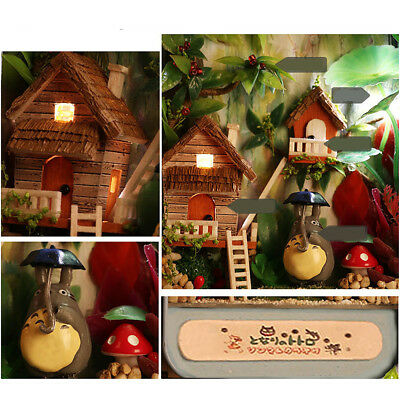DIY Dollhouse Miniature 3D Doll-House Box Theatre Kids Toy Gifts Countryside LED