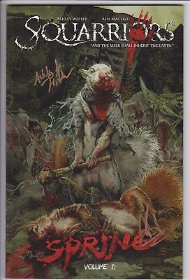 Squarriors Vol 1 1st Print TPB Signed By Ash Maczko and Ashley Witter EPIC A