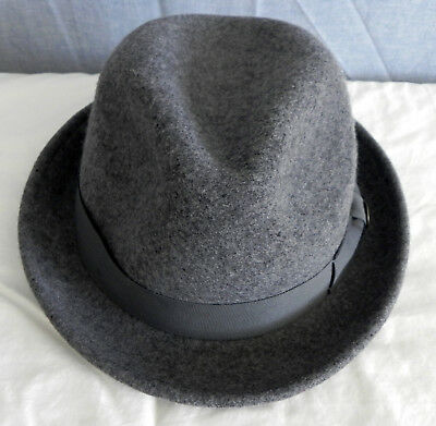 ca9439daf75c8 Goorin Bros Fedora Hat 100% Felt Wool Hat Band with Side Bow Gray Size XL