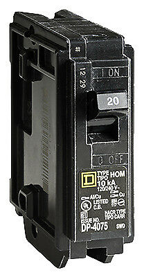 SQUARE D BY SCHNEIDER ELECTRIC Homeline 20-Amp Single-Pole Circuit Breaker