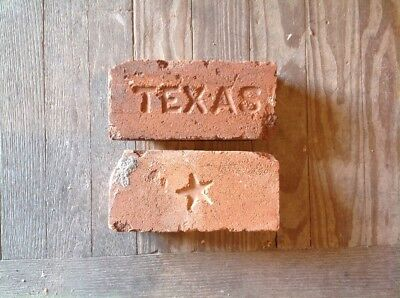 LOT OF 2 ANTIQUE BRICK STAMPED ***** TEXAS and STAR SYMBOL  *******