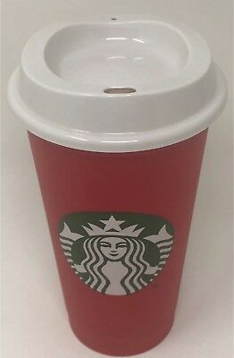 Starbucks RED REUSABLE CUP CHRISTMAS 2018 Holiday Travel 16oz GRANDE 50c OFF SBX