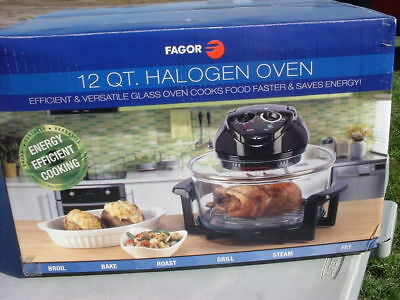 Fagor 12 Quart Halogen Tabletop Oven Electric Black