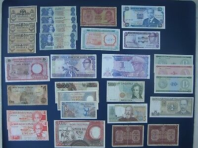 30No. WORLD BANKNOTE COLLECTION~ITALY, RUSSIA, MALTA, AFRICA, INDONESIA ETC