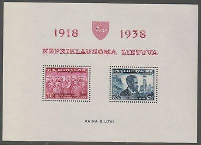 Lithuania 1939 Mi Block 1A, MNH OG