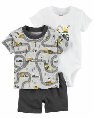 Carter's Infant Boys 3-Piece Short Set - I Dig Mommy NWT outfit construction 18