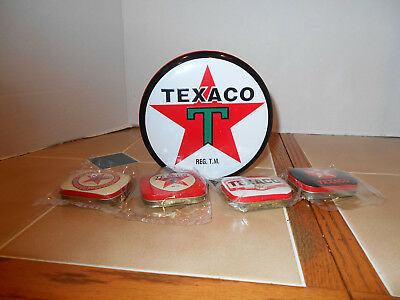 Texaco storage tins,new old stock R&B Collectables all 5 for 1 price