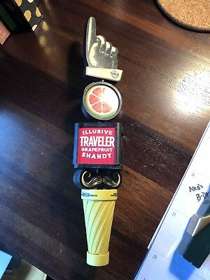 The Illusive Traveler Beer Company Tap Handle